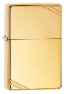 Зажигалка ZIPPO 270 High Polish Brass Vintage with Slashes