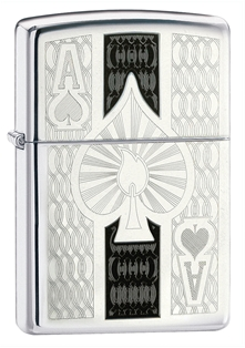 Зажигалка ZIPPO Ace High Polish Chrome 24196