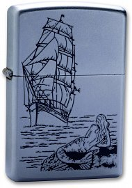Зажигалка ZIPPO Mermaid Satin Chrome 205 Mermaid