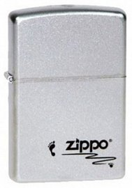 Зажигалка ZIPPO Footprints Satin Chrome 205 Footprints