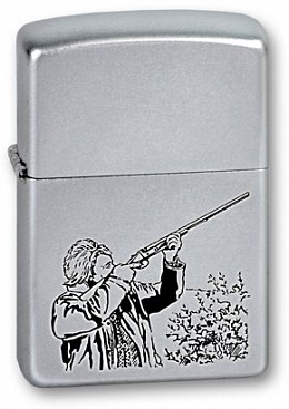 Зажигалка ZIPPO Hunter Satin Chrome 205 Hunter
