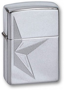 Зажигалка ZIPPO Half Star High Polish Chrome 250 HALF STAR