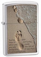 Зажигалка ZIPPO Footprint Brushed Chrome 28180