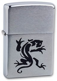 Зажигалка ZIPPO Panther Brushed Chrome 200 Panther