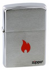 Зажигалка ZIPPO Flame Brushed Chrome 200 FLAME