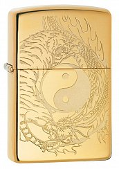 Зажигалка ZIPPO 49024 Tiger and Dragon Design - Тигр и Дракон