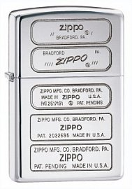 Зажигалка ZIPPO Stamped High Polish Chrome 28381