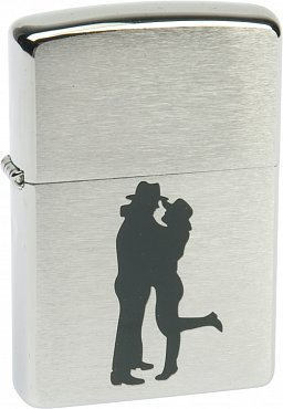 Зажигалка ZIPPO Cowboy Couple Brushed Chrome 200 Cowboy Couple