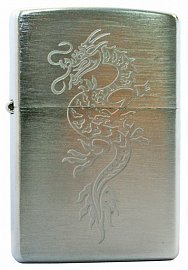 Зажигалка ZIPPO Dragon1 Brushed Chrome 200 Dragon1