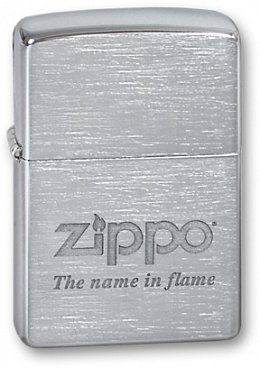 Зажигалка ZIPPO Name in flame Brushed Chrome 200 Name in flame