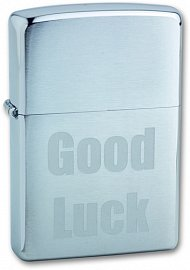 Зажигалка ZIPPO Good Luck Brushed Chrome 200 Good Luck