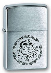 Зажигалка ZIPPO Горилла Brushed Chrome 200 Горилла