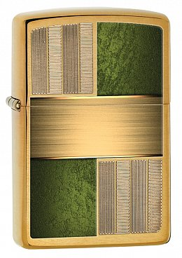 Зажигалка ZIPPO 28796 Brass and Green Design