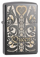 Зажигалка ZIPPO 28797 Royal Black Ice Queen - Королева