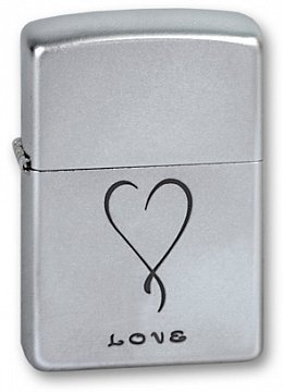 Зажигалка ZIPPO Love Satin Chrome 205 LOVE