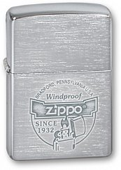 Зажигалка ZIPPO Since 1932 Brushed Chrome 200 Since 1932