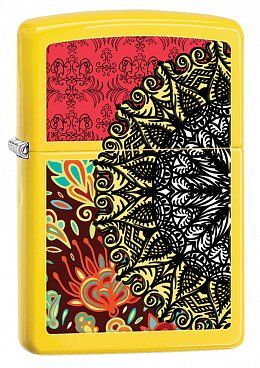 Зажигалка ZIPPO 28850 Yellow Boho Patterns
