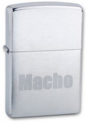Зажигалка ZIPPO Macho Brushed Chrome 200 Macho