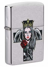 Зажигалка ZIPPO 49262 Cross, Queen and Skull