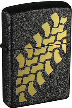 Зажигалка ZIPPO Tire Tracks Black Crackle 236 Tire Tracks